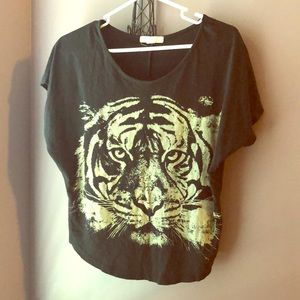 Black tiger shirt